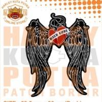 Jaket Parka Kulit Jaket Harley Davidson Patch Atribut Bordir Series 3