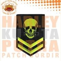 Jaket Boomber Kulit Harley Davidson Patch Atribut Bordir Series 3
