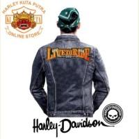 Jaket Kulit Parka Jaket Harley Davidson Patch Atribut Bordir Series 53