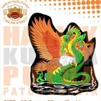 Jaket Parka Kulit Jaket Harley Davidson Patch Atribut Bordir Series 37