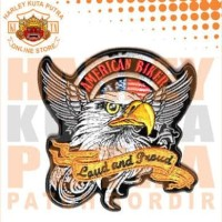 Jaket Parka Kulit Jaket Harley Davidson Patch Atribut Bordir Series 6