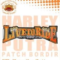 Jaket Parka Kulit Jaket Harley Davidson Patch Atribut Bordir Series 29
