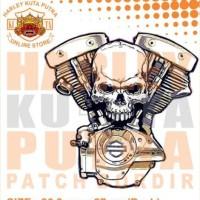 Jaket Parka Kulit Jaket Harley Davidson Patch Atribut Bordir Series 30