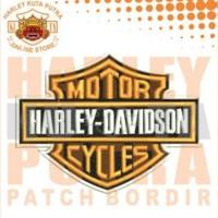 Jaket Kulit Parka Jaket Harley Davidson Patch Atribut Bordir Series 11
