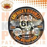 Jaket Parka Kulit Jaket Harley Davidson Patch Atribut Bordir Series 22