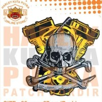 Jaket Boomber Kulit Harley Davidson Patch Atribut Bordir Series 2