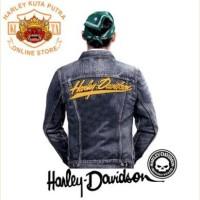 Jaket Boomber Kulit Harley Davidson Patch Atribut Bordir Series 52