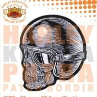Jaket Parka Kulit Jaket Harley Davidson Patch Atribut Bordir Series 1