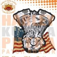 Jaket Parka Kulit Jaket Harley Davidson Patch Atribut Bordir Series 23