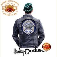 Jaket Kulit Parka Jaket Harley Davidson Patch Atribut Bordir Series 6