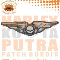 Jaket Kulit Parka Jaket Harley Davidson Patch Atribut Bordir Series 39