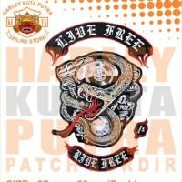 Jaket Kulit Parka Jaket Harley Davidson Patch Atribut Bordir Series 32