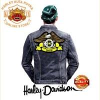 Jaket Parka Kulit Jaket Harley HOG Patch Atribut Bordir Series