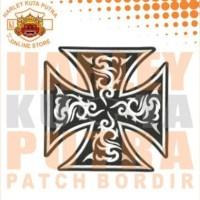Jaket Parka Kulit Jaket Harley Davidson Patch Atribut Bordir Series 20