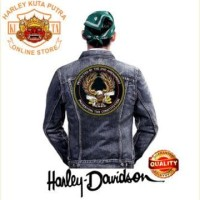 Jaket Parka Kulit Jaket Harley Davidson Patch Atribut Bordir Series 50