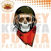 Jaket Parka Kulit Jaket Harley Davidson Patch Atribut Bordir Series 8