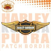 Jaket Parka Kulit Jaket Harley Davidson Patch Atribut Bordir Series