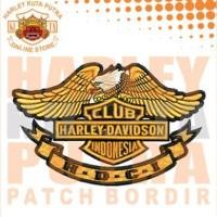 Jaket HDCI Kulit Jaket Harley Davidson Club Indonesia Bordir Series 9