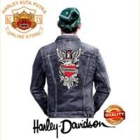 Jaket Parka Kulit Jaket Harley Davidson Patch Atribut Bordir Series 51