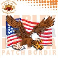 Jaket Kulit Parka Jaket Harley Davidson Patch Atribut Bordir Series 18