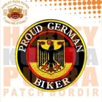 Jaket Boomber Kulit Harley Davidson Patch Atribut Bordir Series 17