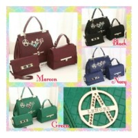 Tas Import Wanita Fashion Korea Branded Batam Murah Lenore 3in1 2643