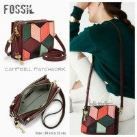 Jual Tas AUTHENTIC Fossil Campbell Patchwork Crossbody NWT
