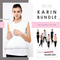 MAMIBELLE KARIN BUNDLE Manset Kutung Hamil Menyusui White Black Brown