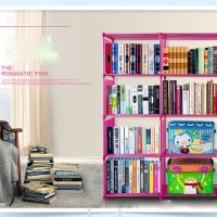 Rak Buku Double Serbaguna 2 Sisi Portable Book Cabinet Baju Cloth Rack