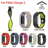 Jam Tangan Strap Tali Fitbit Charge 2 Rubber Nike Breathable Silicone