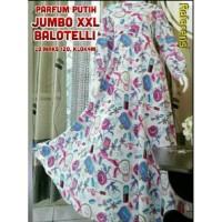 baju muslim wanita Gamis JUMBO XXL Parfum Putih Balotelli Motif L3 |