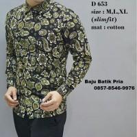 Harga baju batik kombinasi blus batik pria model blus batik | antitipu.com