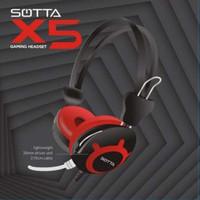 Headset Gaming Sotta X5 / Headset Gaming Murah / Headphone Sotta X5