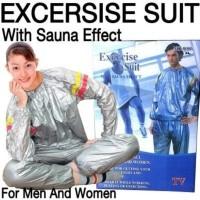 Size XL Baju Sauna Pembakar Lemak - Silver (Sauna Suit)