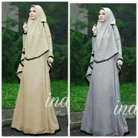 Gamis pesta baju muslim ina syari pakaian stelan baju lebaran hijab