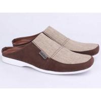 Sepatu Sandal Sendal Bustong Pria Cowok Cowo Slip OnCoklat ROS 010 RZ