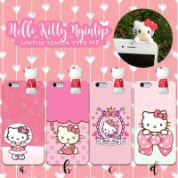 Case Hello Kitty 3D - Semua Tipe HP-Samsung iPhone Xiaomi Asus Oppo dl