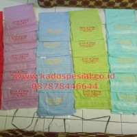 Paket Souvenir Ultah Handuk Bordir Nama dan Gambar Ulang Tahun Aqiqah