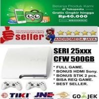 PS3 Slim 500 GB CFW Seri 2500 PUTIH