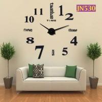 Jam Dinding Raksasa 3D Giant Wall Clock Warna Dengan Angka  - JN530