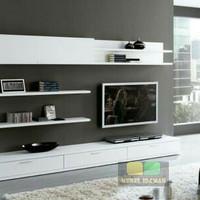 Lemari Cabinet tv set lemari cabinet rak dinding minimalis