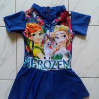 Baju renang untuk anak cewek SD karakter Frozen