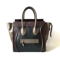 Tas Celine Mini Luggage Tri Color Abb