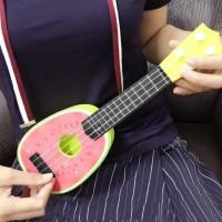 Ukulele Gitar Mainan anak Gambar Buah-Buahan unik antik