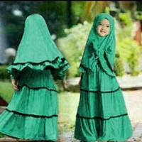 KID ZEMA HIJAU FUJI / baju muslim anak