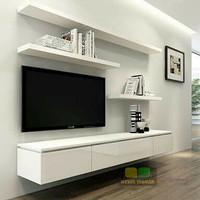 Lemari kabinet tv rak dinding lemari gantung minimalis