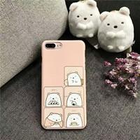 jepang sumikko gurashi lucu hard case iphone 6 6s plus 7 7+ 8 8+ lucu