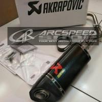 Knalpot Akrapovic PCX 150 LED Fullsystem Ori Slovenia (Header custome)
