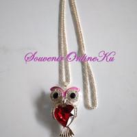 Hadiah kalung aksesoris perhiasan korea owl kalung pesta wisuda selfi
