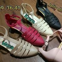 Sale! Jelly Shoes Bara Bara Sepatu Wanita Wedges Karet Import 3309